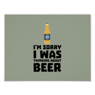 Thinking about Beer bottle Z860x Poster