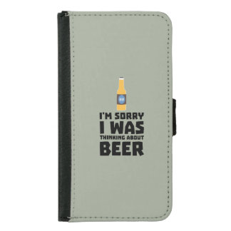 Thinking about Beer bottle Z860x Samsung Galaxy S5 Wallet Case