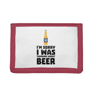 Thinking about Beer bottle Z860x Tri-fold Wallet