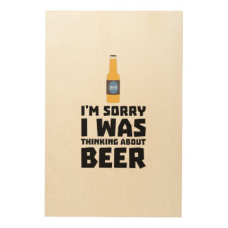 Thinking about Beer bottle Z860x Wood Print