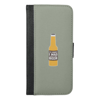 Thinking about Beer bottle Zjz0m iPhone 6/6s Plus Wallet Case