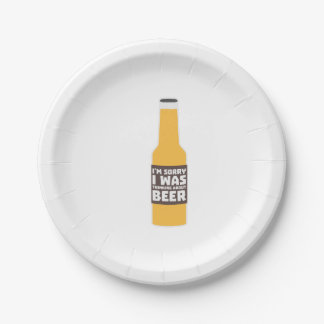 Thinking about Beer bottle Zjz0m Paper Plate
