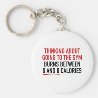 Thinking About Going To The Gym Basic Round Button Key Ring