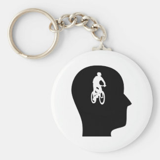 Thinking About Mountain Biking Key Ring