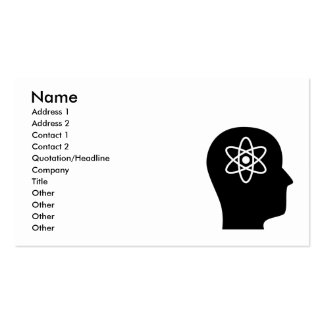 Thinking About Nuclear Physics Business Card Template