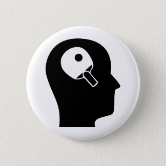 Thinking About Table Tennis 6 Cm Round Badge