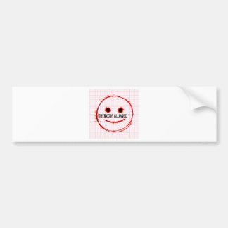 Thinking Allowed Bumper Sticker