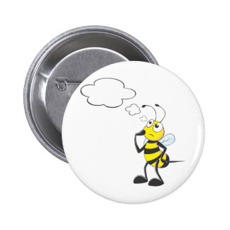Thinking Bee with Thought Bubble Pins