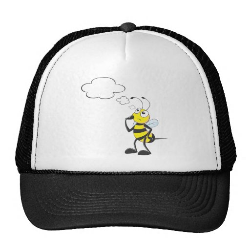 Thinking Bee with Thought Bubble Trucker Hat