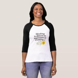 Thinking Breathing Femine T-shirt