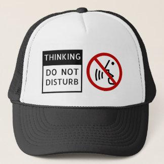 THINKING/DO NOT DISTURB TRUCKER HAT