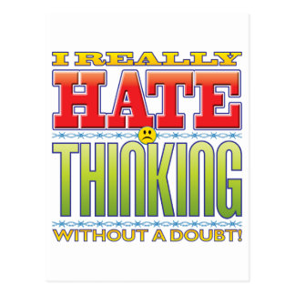 Thinking Hate Face Postcards
