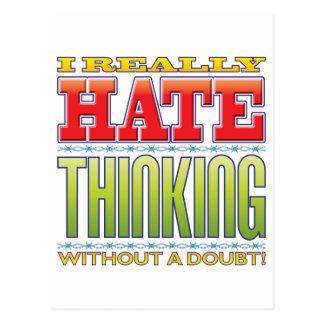 Thinking Hate Postcard
