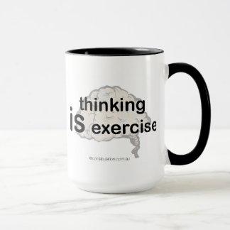 Thinking Is Exercise Mug