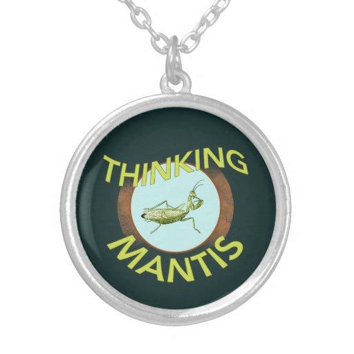 Thinking Mantis Pendant Necklace