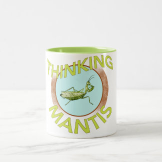Thinking Mantis Two-Tone Coffee Mug