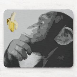 Thinking Monkey Mouse Pad