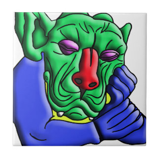 Thinking Monster Ceramic Tile