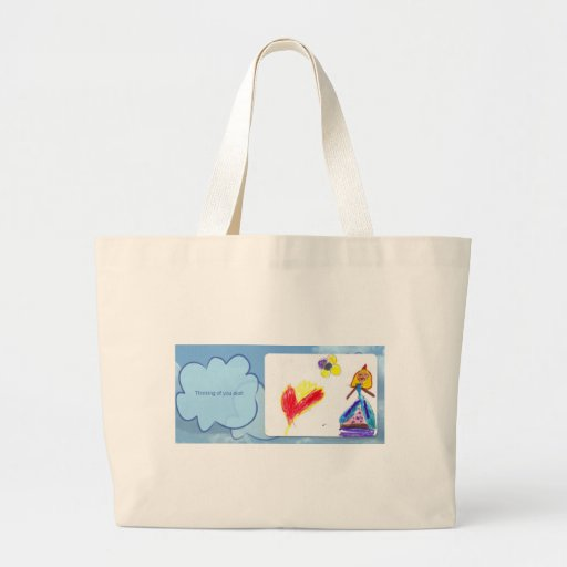 thinking of you alot canvas bags