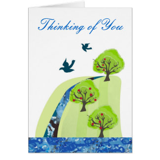 Thinking of you Apple Orchard Card
