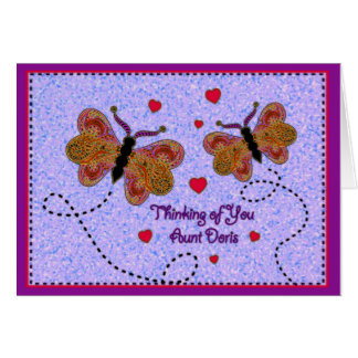 Thinking of You Aunt Doris Card