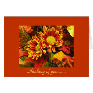 Thinking of you, autumn design card