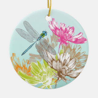 Thinking of You Blue Dragonfly Ornament