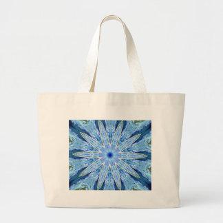 Thinking of You Blue Kaleidoscope Canvas Bag