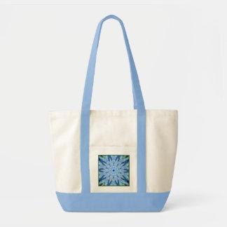 Thinking of You Blue Kaleidoscope Fancy Beach Canvas Bag