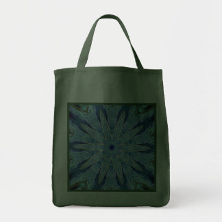 Thinking of You Blue Kaleidoscope Green Reusable Bag