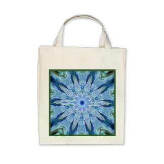 Thinking of You Blue Kaleidoscope Reusable Bags