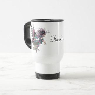 Thinking Of You Butterfly Fairy Male Elf Nostalgic Travel Mug