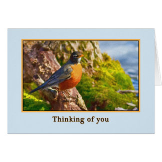 Thinking of You  Card with Robin