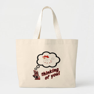 Thinking of You Chicken Jumbo Tote Bag