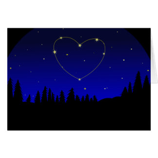 Thinking of You Constellation Heart Sky Card