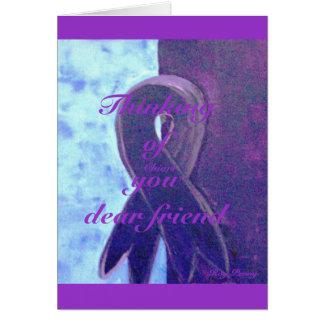 Thinking of you dear friend greeting card