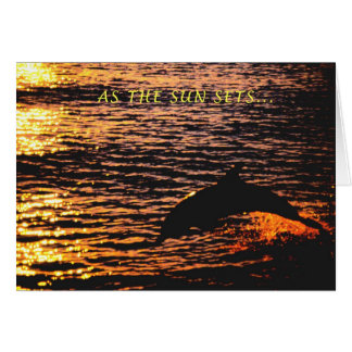 thinking of you ...dolphin sunset jump card