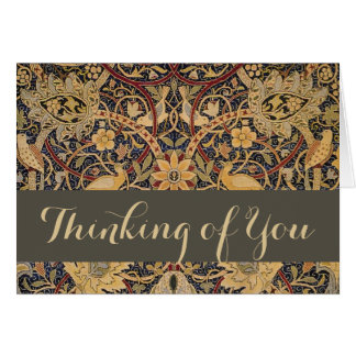 Thinking of You Editable Custom William Morris Card