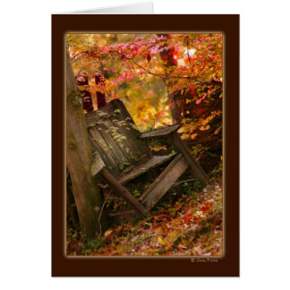 Thinking of You Fall Chair Greeting Note Card