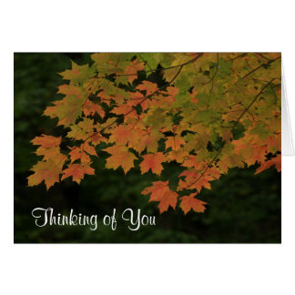"""Thinking of You"" Fall Leaves Card"