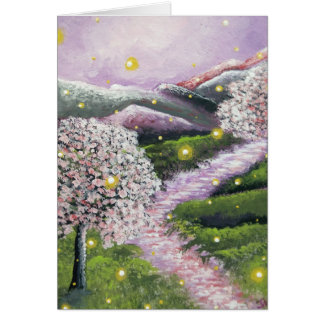 Thinking of You Firefly Dogwood Greeting Card