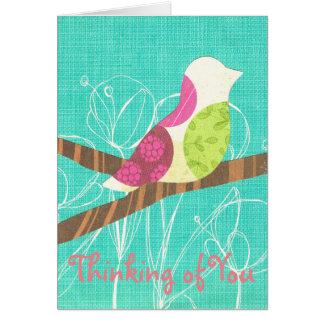 Thinking of You Greeting Card Songbird Collage