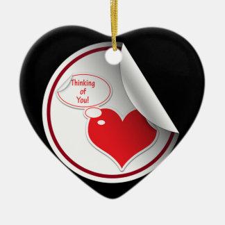 Thinking Of You Heart Ceramic Heart Decoration