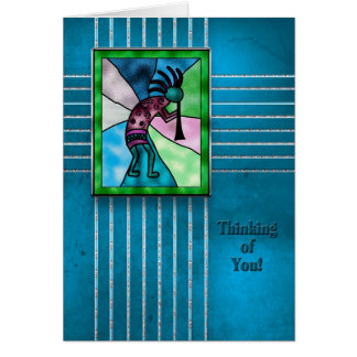 Thinking of You- Kokopelli - Indian Collection Card