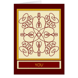 Thinking of You Makes My Heart Dance - I Love You Card