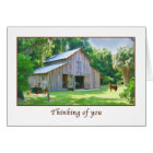 Thinking of You, Old Farm Barn Card