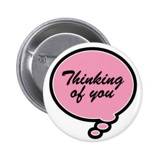 Thinking of You - pink Button