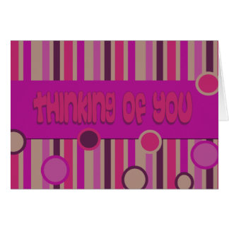 thinking of you pink greeting card