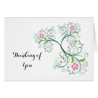 Thinking of You Post Card Note