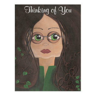 Thinking Of You Quantum Cutie Ivy Postcard
